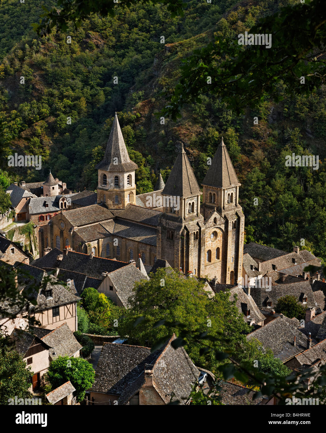 Saint Foy Abbey Church, Conques - Stock Image