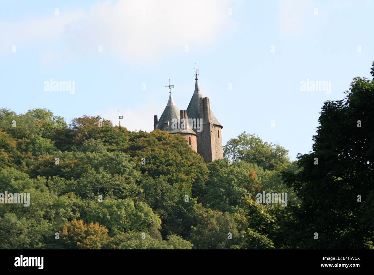 Red Castle - Stock Image