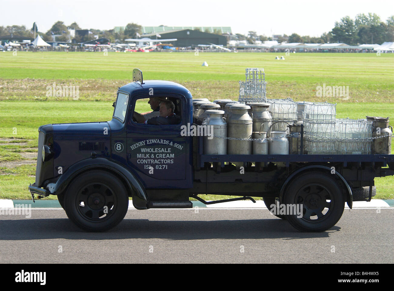 Bedford Dropside Lorry - Stock Image