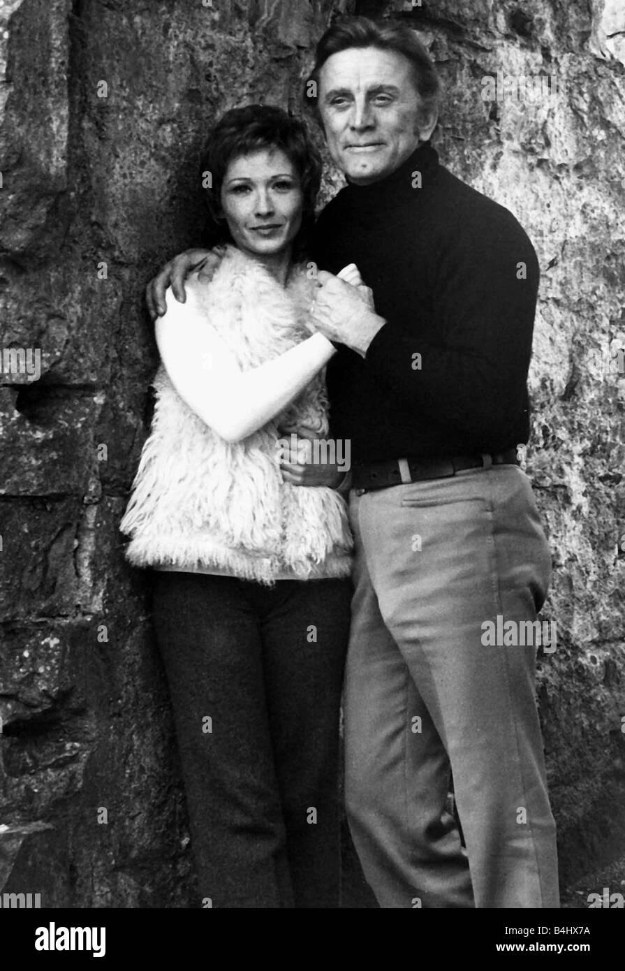 Kirk Douglas And Marlene Joubert In Oban 1971 Filming Catch