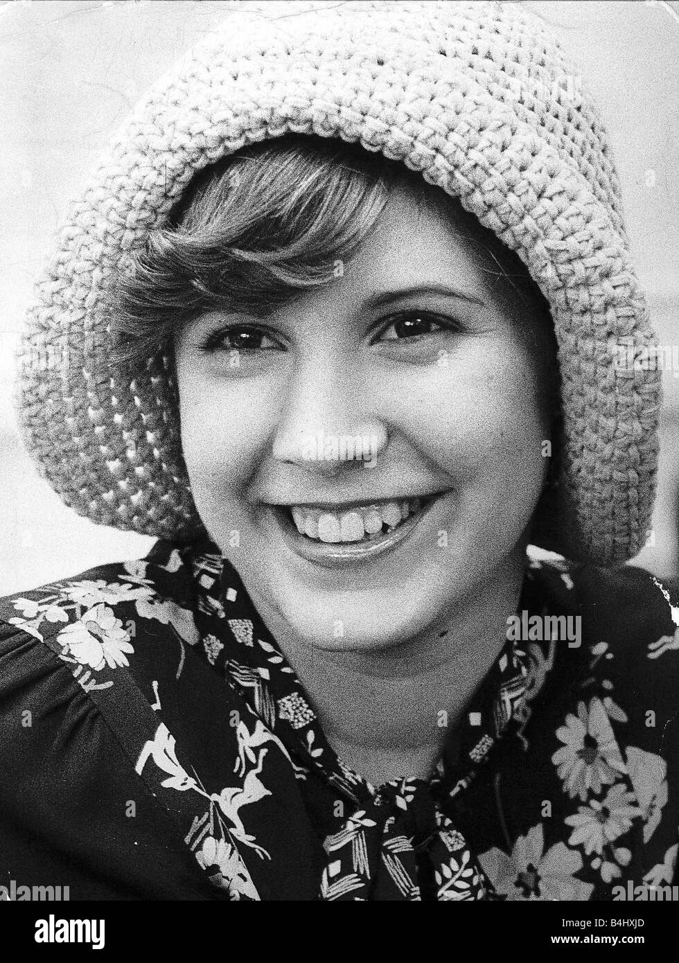Carrie Fisher Actress Daughter Of Actress Debbie Reynolds July 1974 - Stock Image