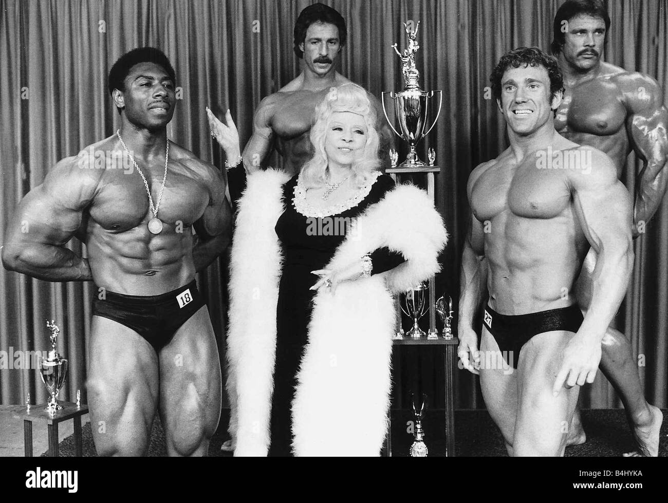 Mae West Actress a the Mr America Contest August 1977 dbase msi - Stock Image
