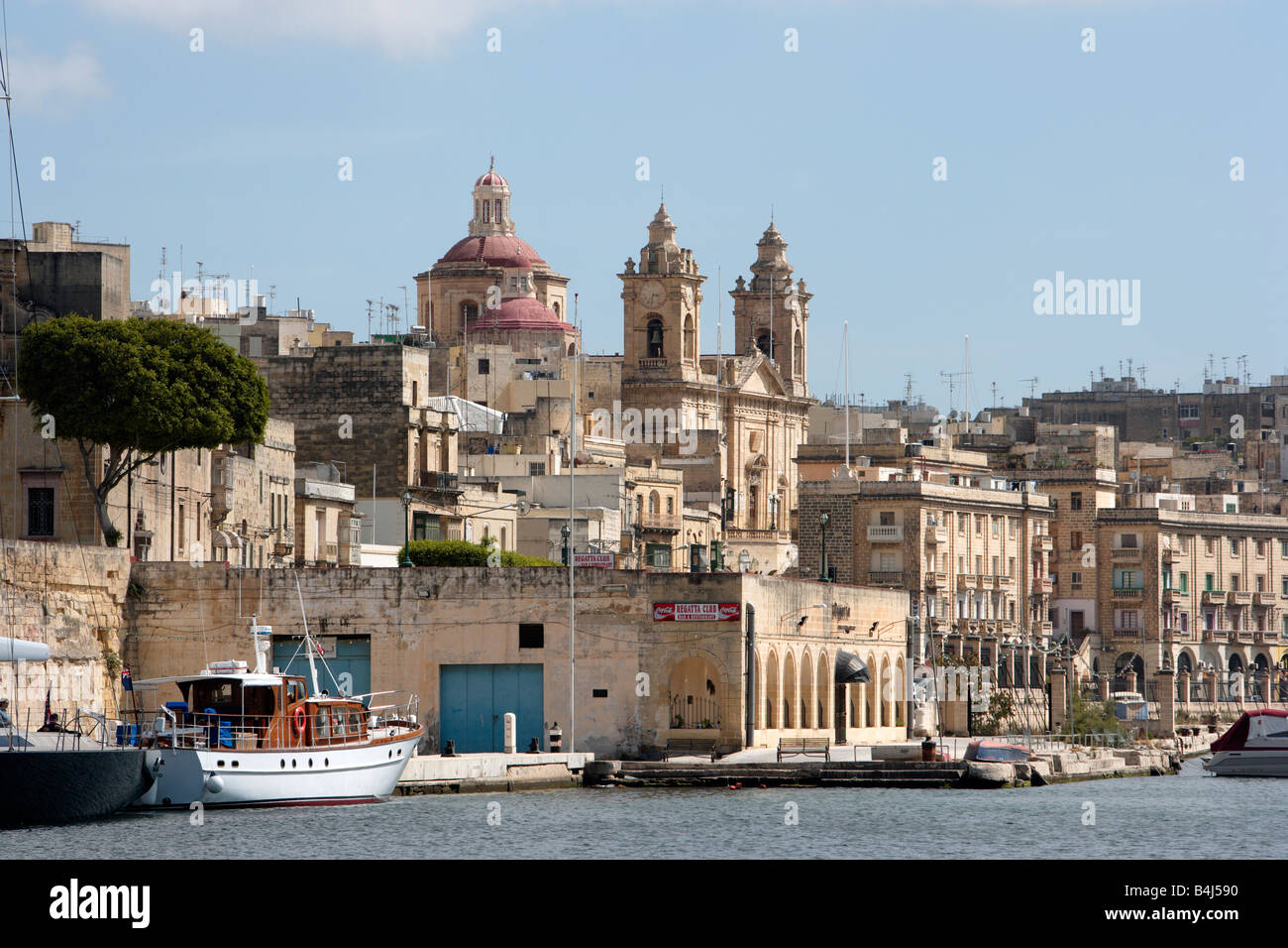 Cospicua and the Church of the Immaculate Conception, Malta - Stock Image