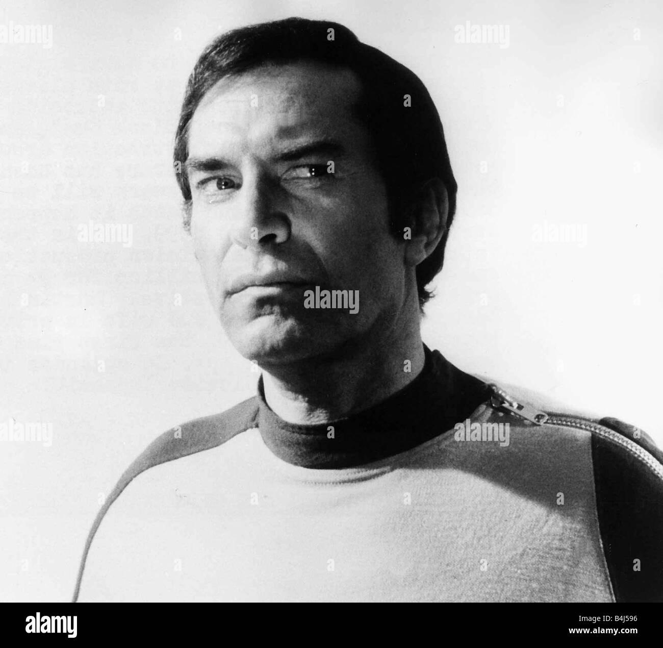 Actor Martin Landau in tv programme Space 1999 1977 - Stock Image