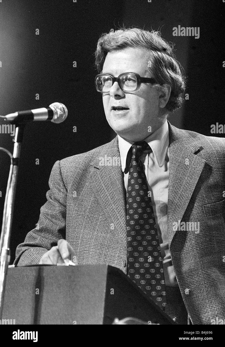 Sir Geoffrey Howe Oct 1977 Conservative Party Conference - Stock Image