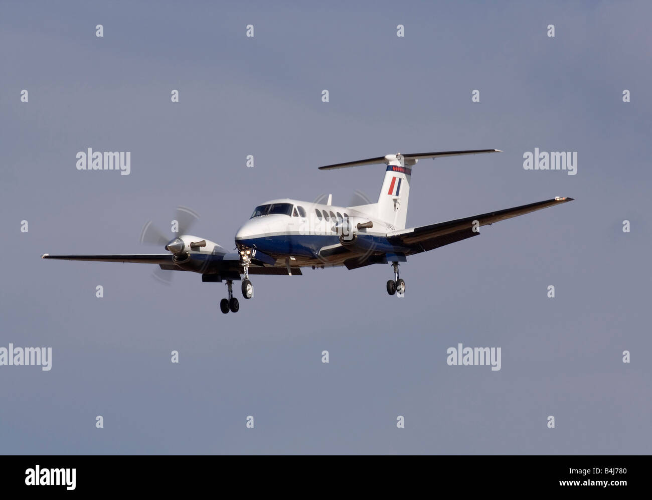 Military aviation. Beechcraft B200 Super King Air twin engine turboprop training aircraft of the Royal Air Force - Stock Image
