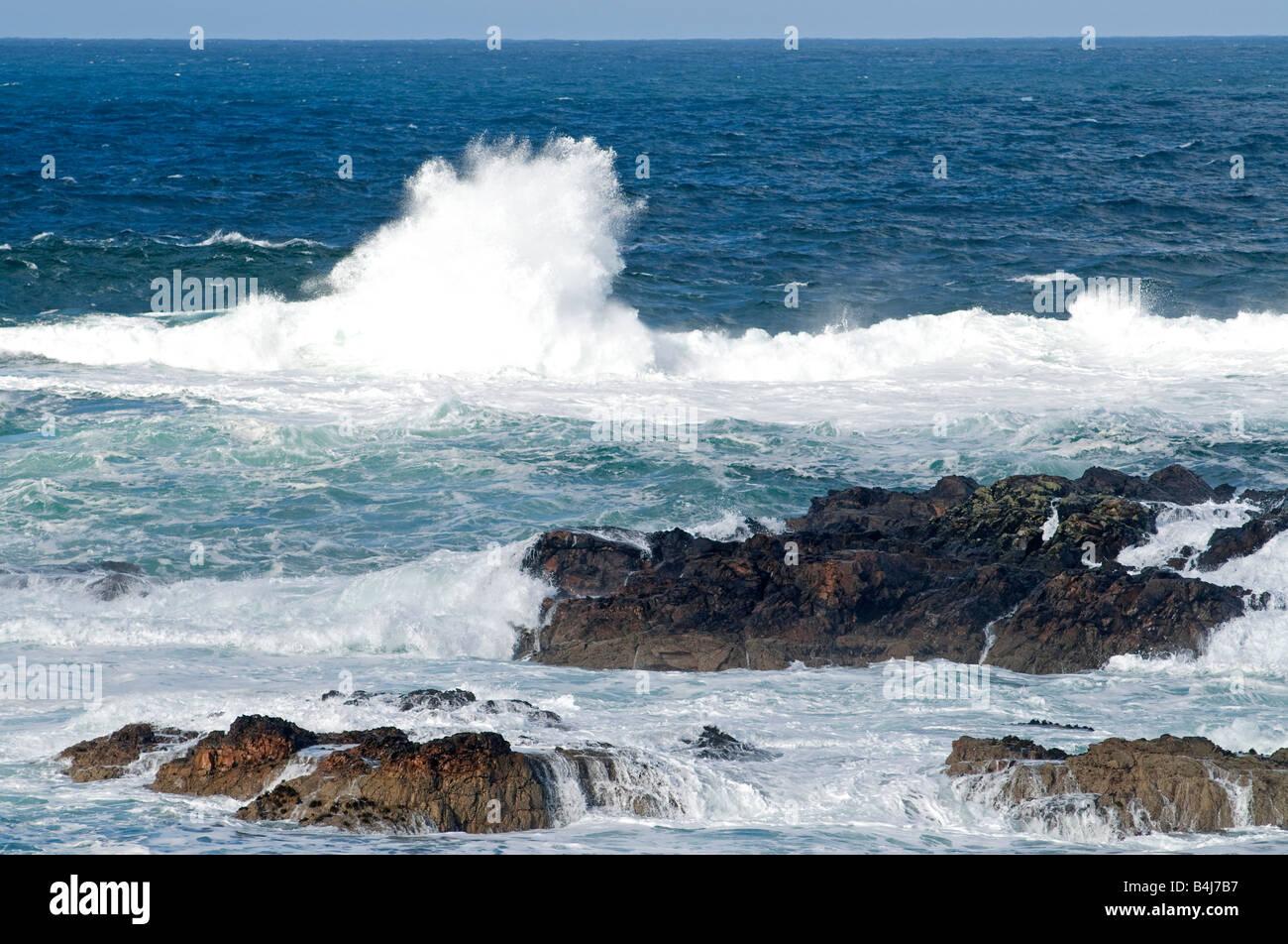 Rough Sea on the Pentland Firth Caithness Scottish Highlands North Coast UK - Stock Image