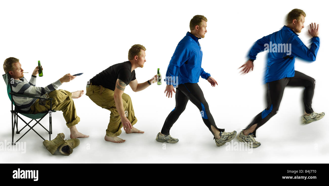 Evolution To Fitness - Stock Image