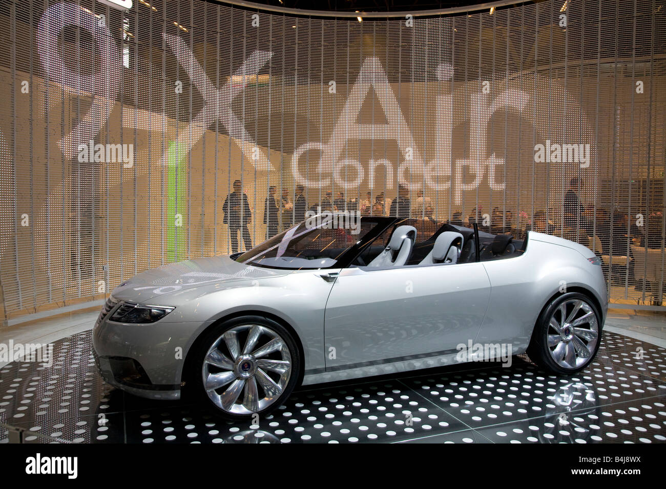 Saab 9-X Air Concept on show at a Motor Show 2008. The Mondial de l'Automobile. - Stock Image