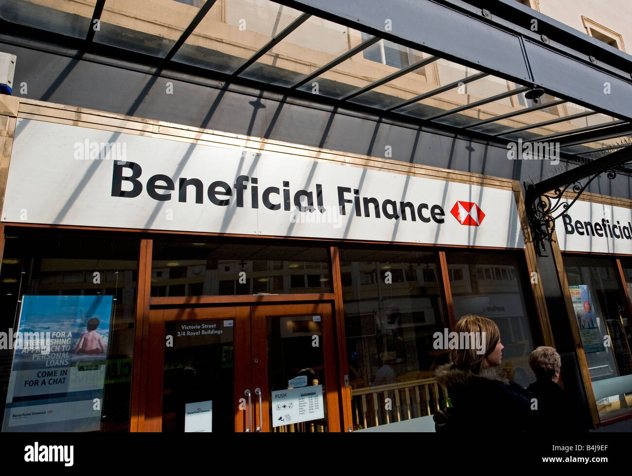 Beneficial Finance HSBC. FOR EDITORIAL USE ONLY - Stock Image