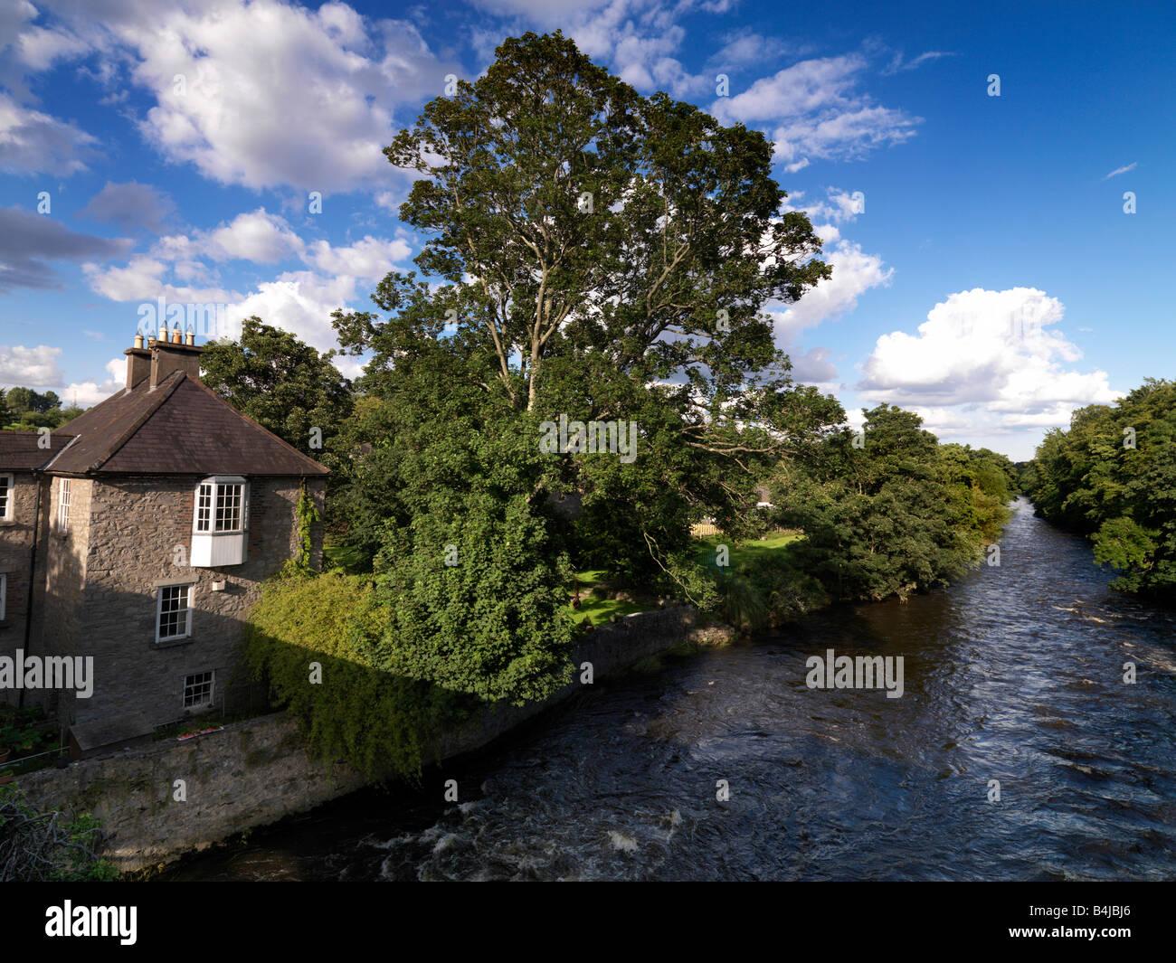 River Liffey at Lexlip Kildare Ireland - Stock Image