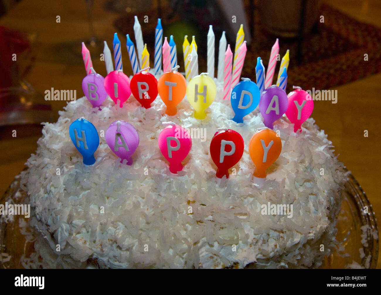 Pleasing Birthday Cake Coconut Dessert Eat Icing Portion Treat Stock Photo Funny Birthday Cards Online Alyptdamsfinfo