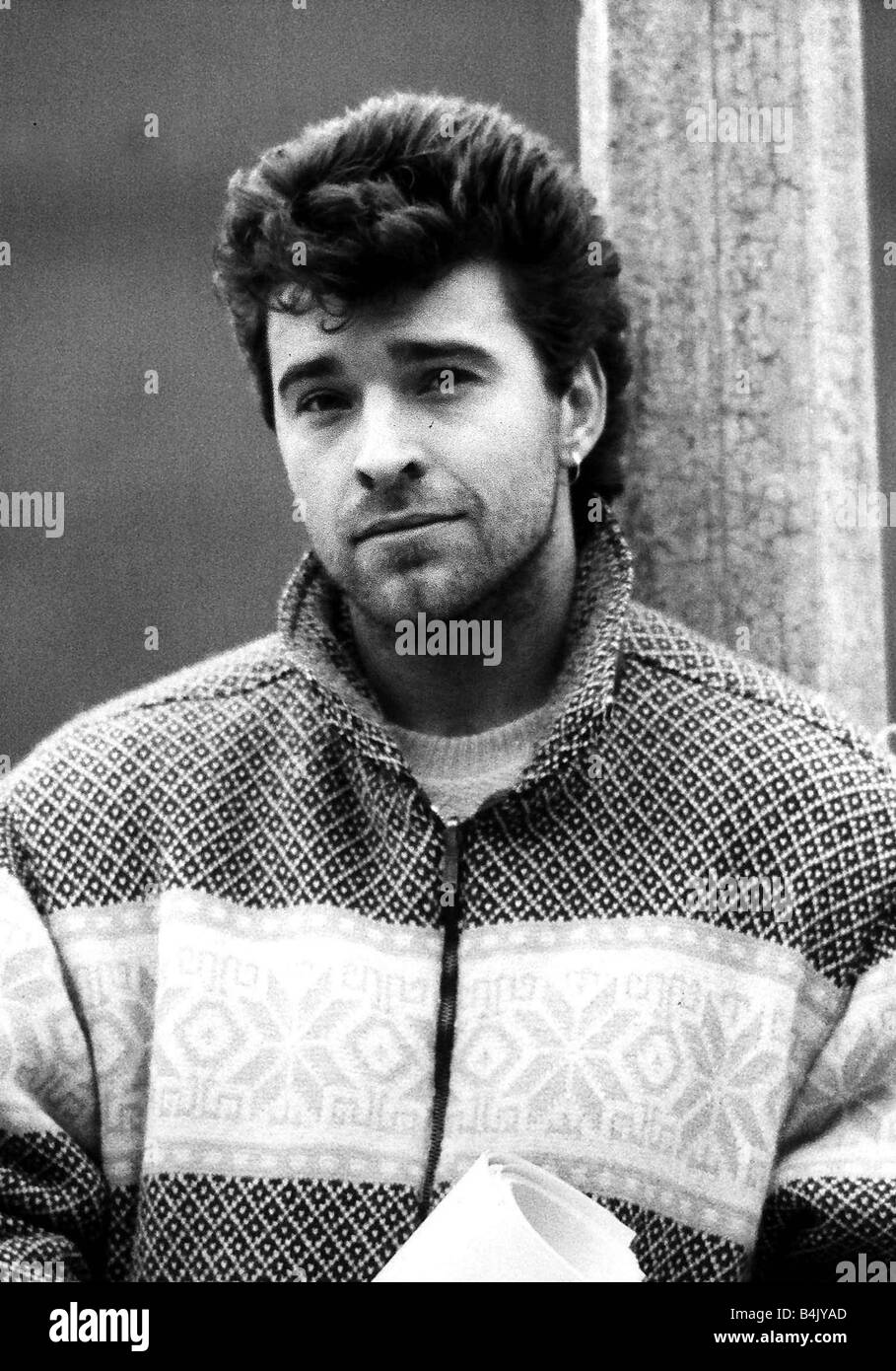 David Easter actor who appeared in Brookside playing Pat Hancock January 1986 Dbase - Stock Image