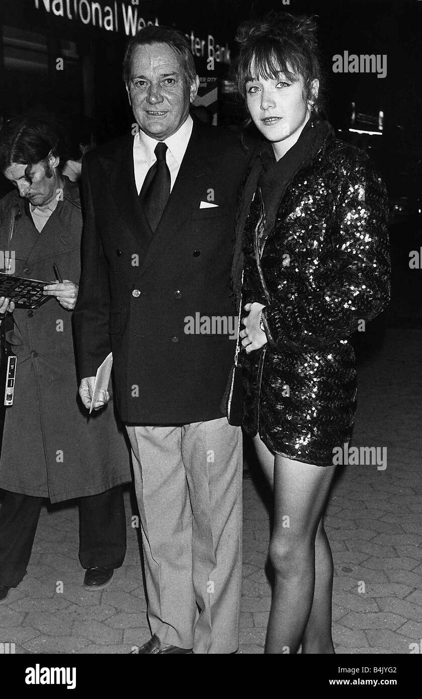 denholm elliott actor with his daughter jennifer april 1983 dbase