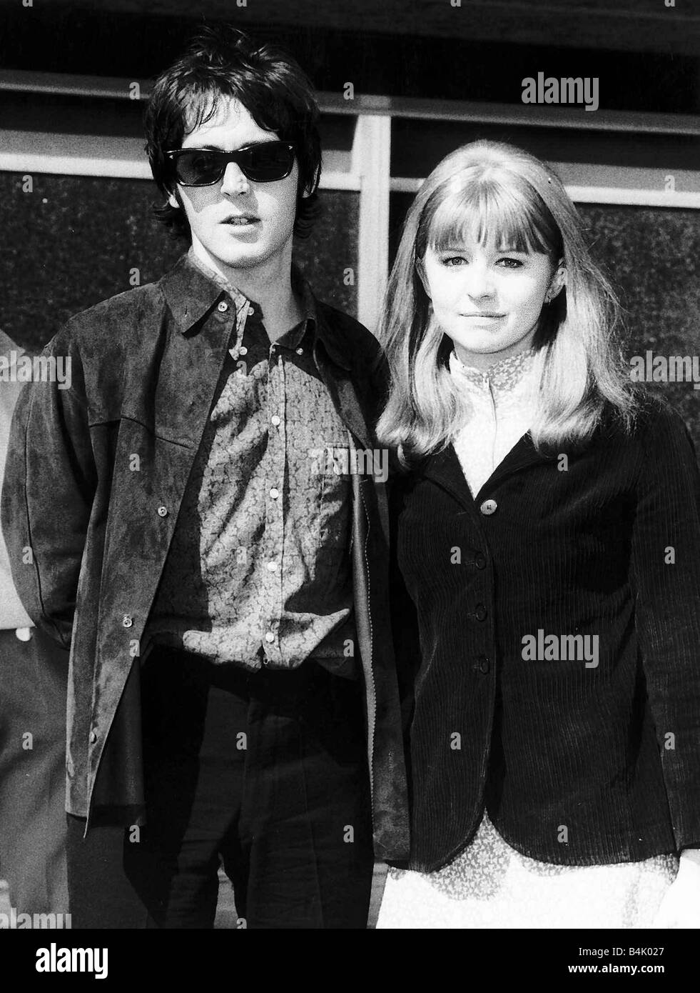 Jane Asher Actress With Paul McCartney Singer Pictured At Heathrow Airport