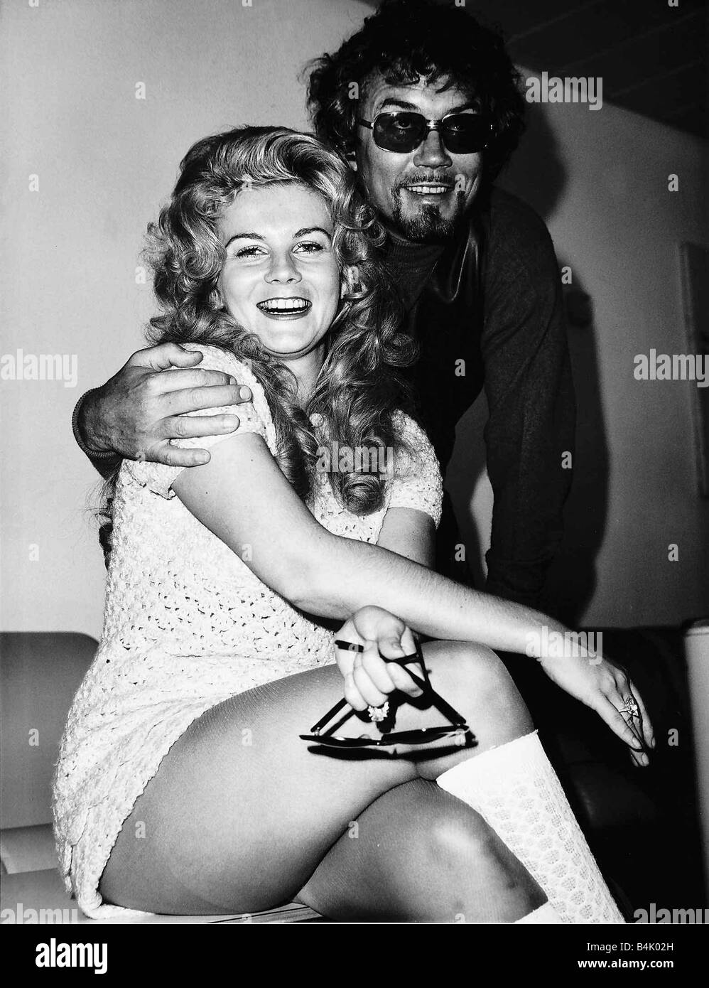 Ann Margret Actress with husband Roger Smith At Heathrow Airport DBase - Stock Image