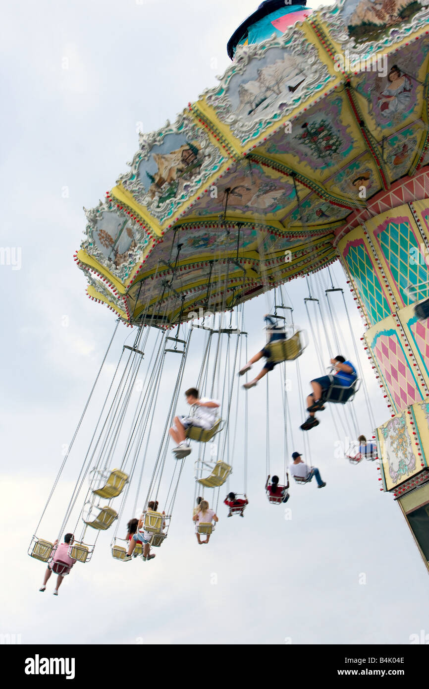Swing ride at a carnival. - Stock Image