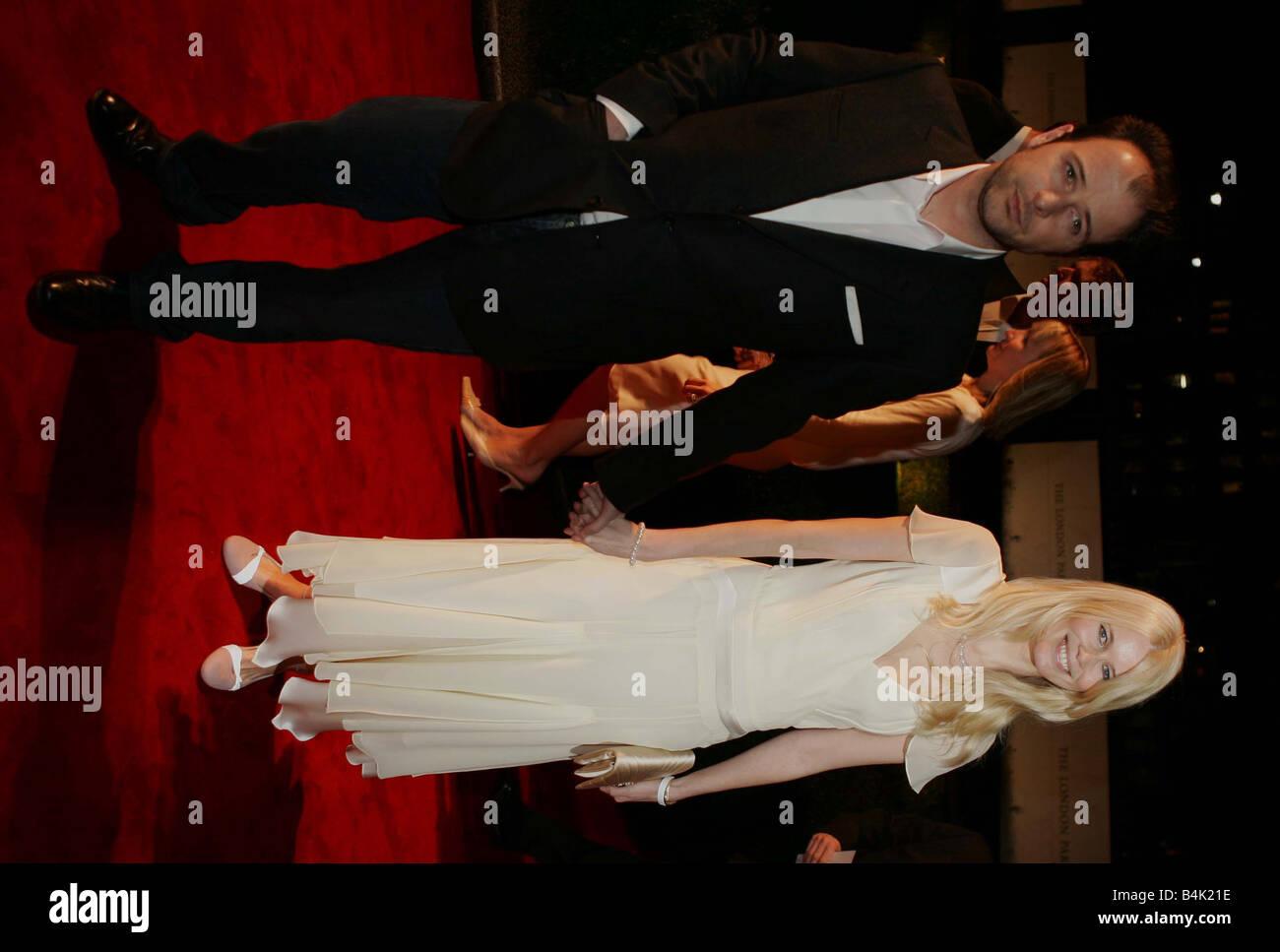 11 02 05 PRE BAFTA PARTY claudia schiffer PHOTO PHIL HARRIS MIRROR SHOWBIZ - Stock Image