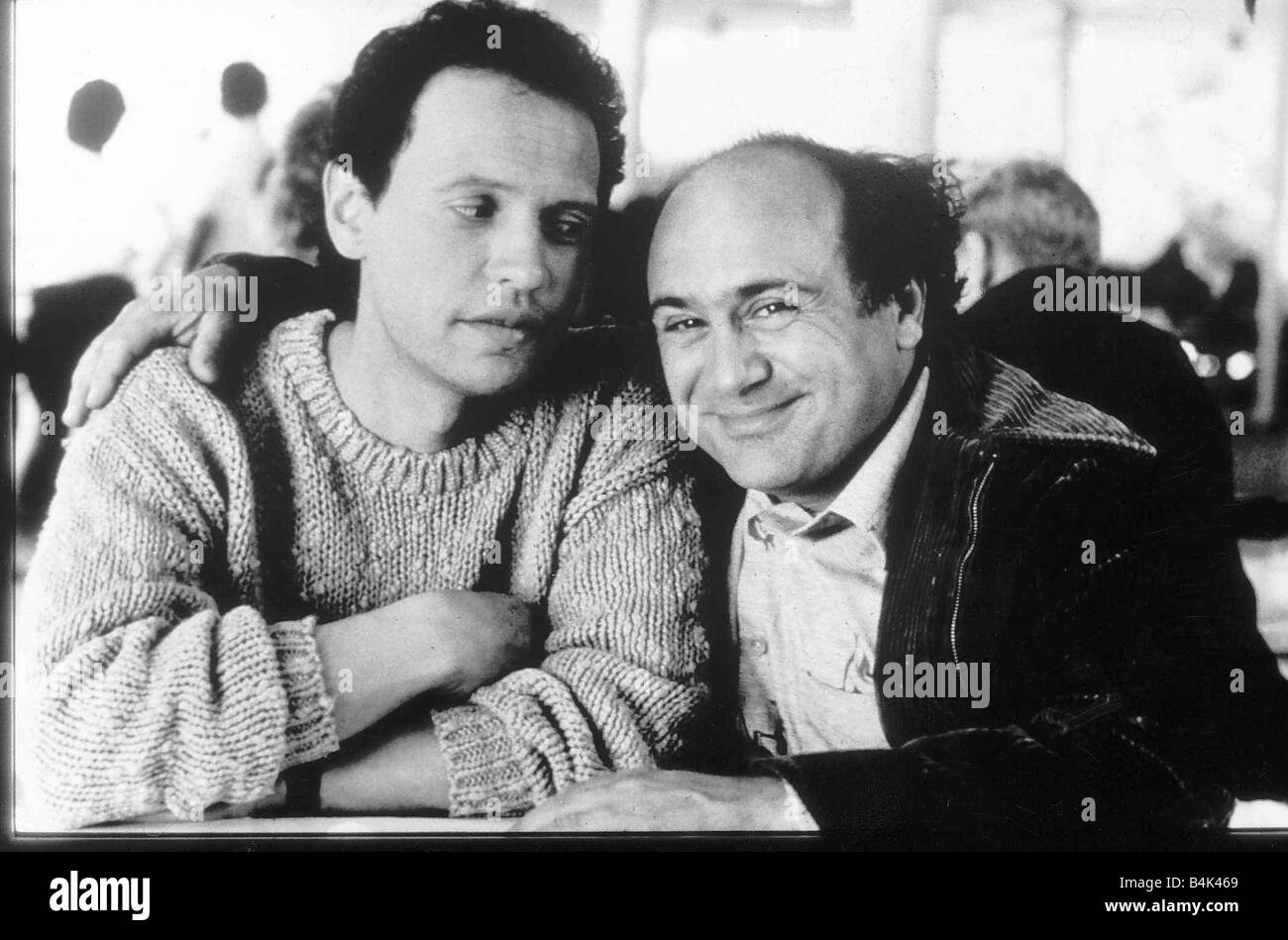 Danny DeVito and Billy Crystal American actors April 1989 Dbase - Stock Image