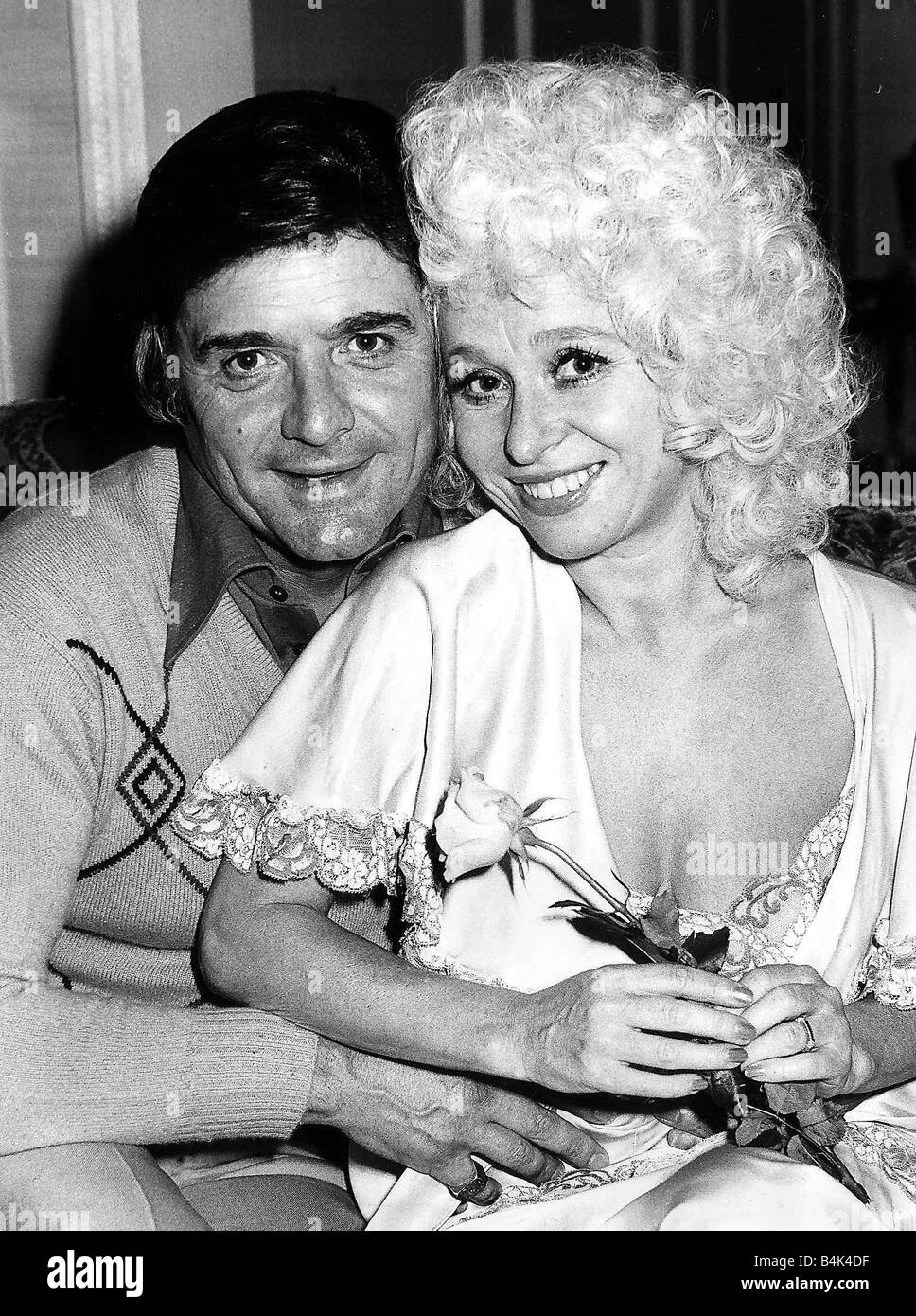 90c0d185cea1 Barbara Windsor Actress at home with her husband Ronnie Knight July 1980  DBase