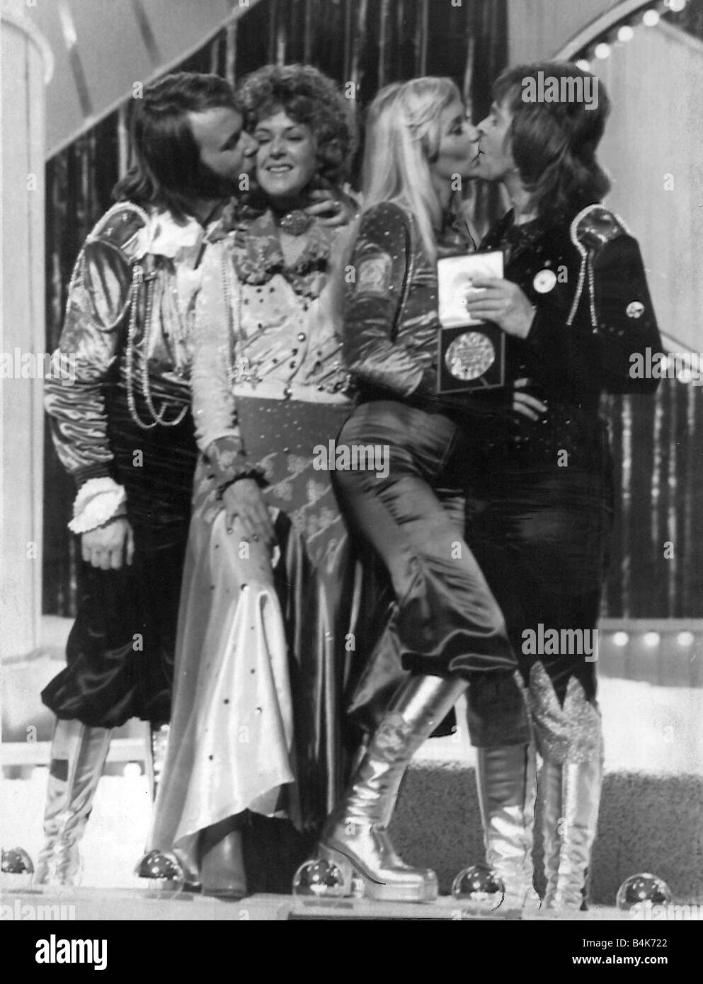 abba win the 1974 eurovision song contest 1974 in brighton for