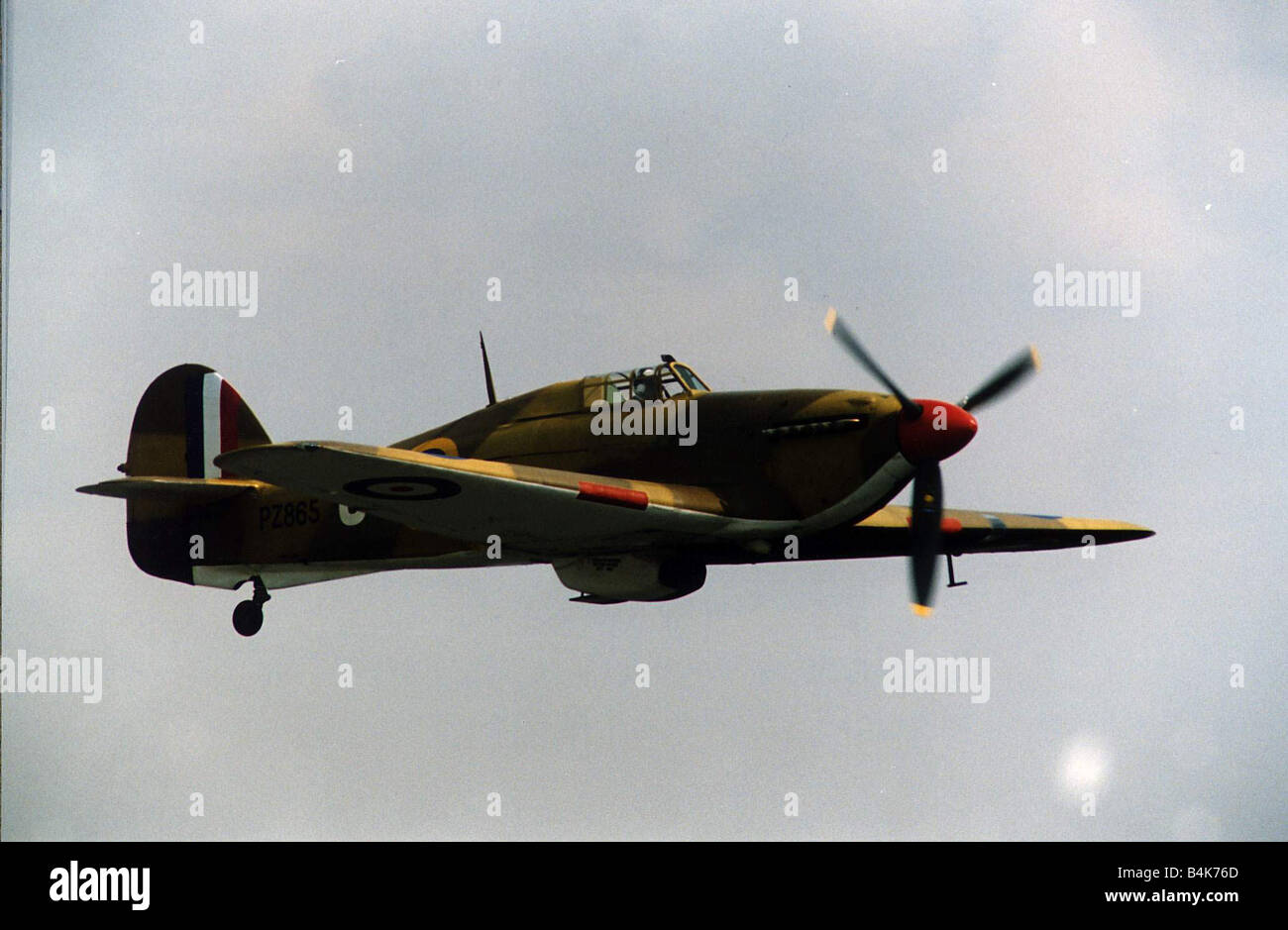 Air Aircraft Hawker Hurricane WW2 WW2 fighter aircraft that took part in the Battle of Britain owned and flown by - Stock Image