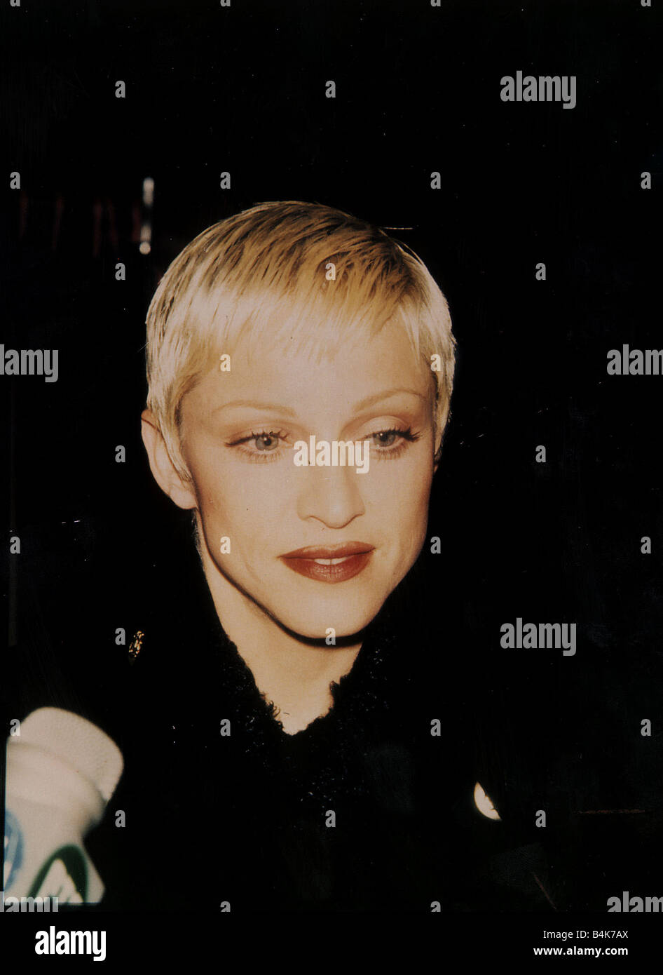 Madonna Singer Actress With Short Blond Hair Dbase Stock Photo