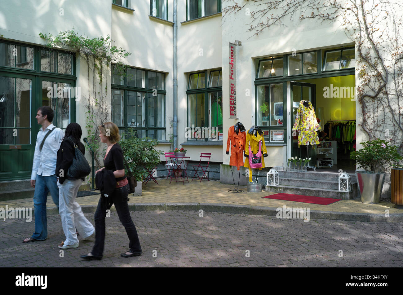 Germany, Berlin, fashion shop 'FREItag Fashion' in the Hackeschen Hoefen Stock Photo