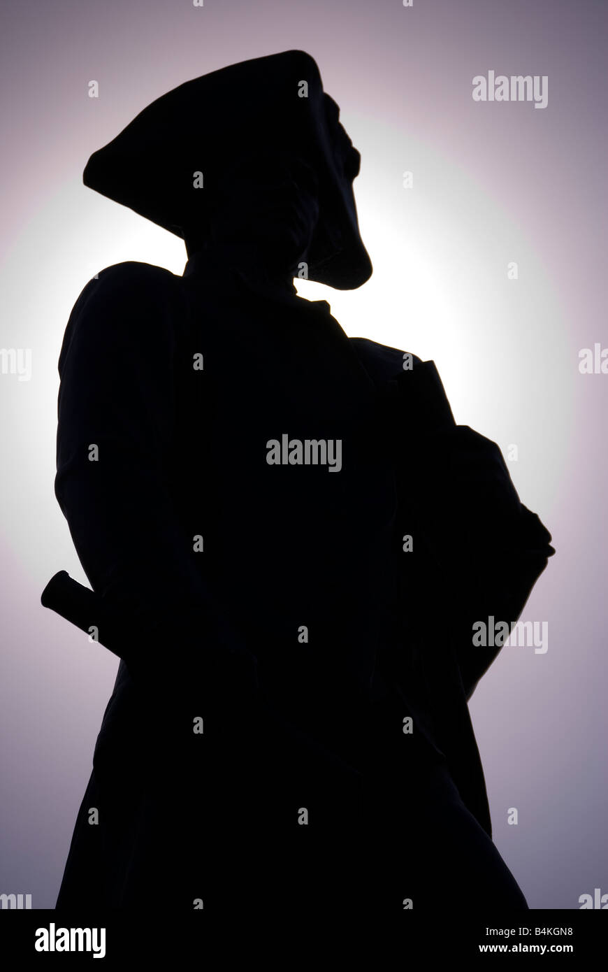 Silhouette of Captain Cook, Pall Mall, London, England, UK - Stock Image