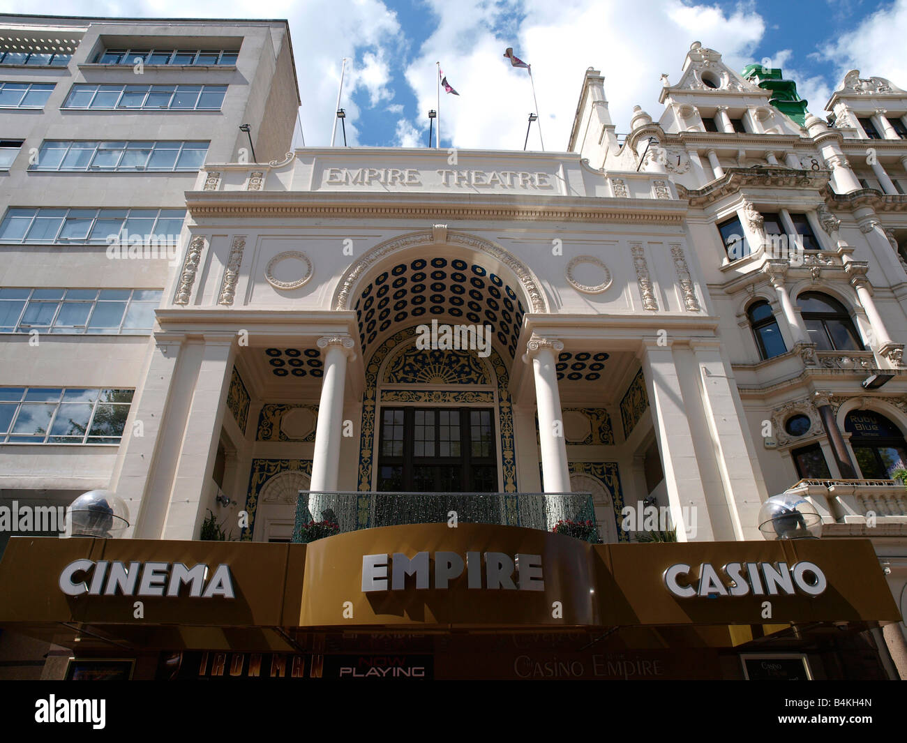 Empire Cinema and Casino Leicester Square London England - Stock Image