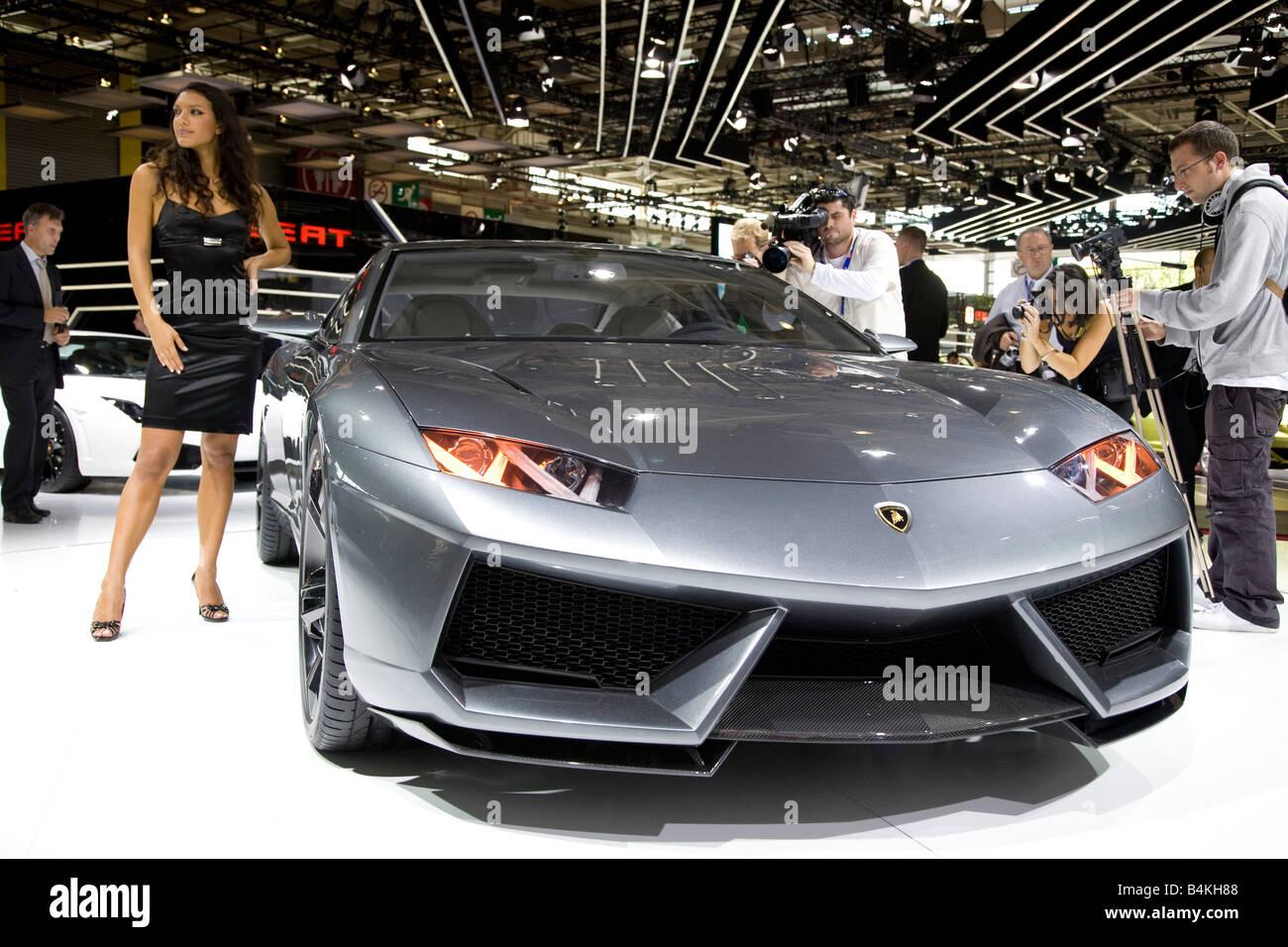 Lamborghini Estoque World Premiere At A Motor Show.   Stock Image