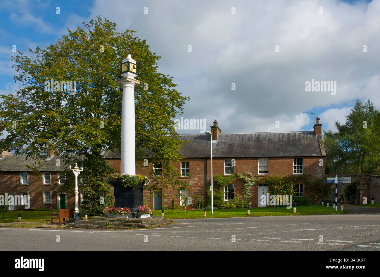 High Cross, at the top of Broughgate, Appleby, Eden Valley, Cumbria, England UK - Stock Image