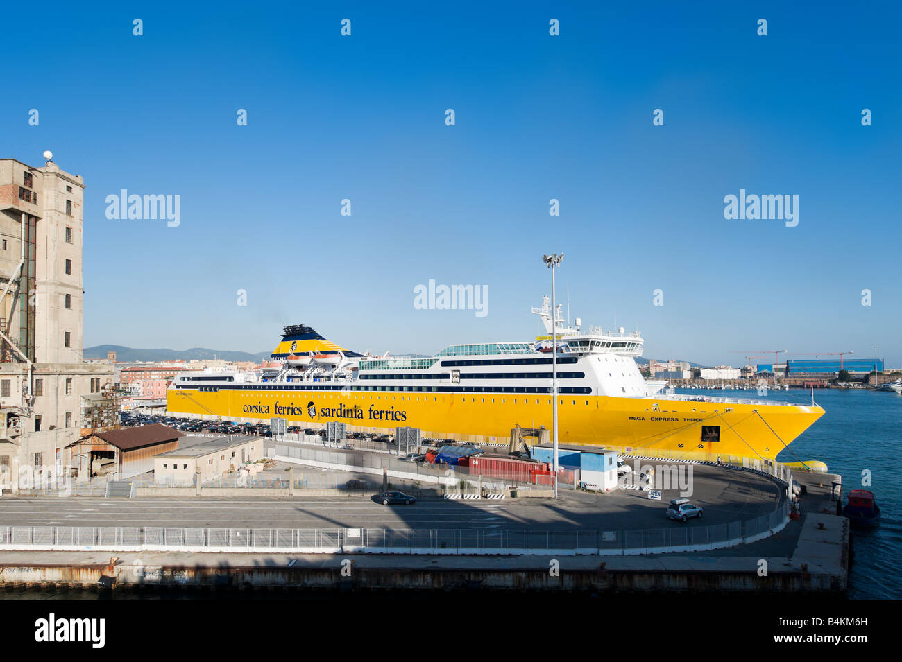 Corsica and Sardinia Ferries Car Ferry in the port of Livorno, Tuscany, Italy - Stock Image
