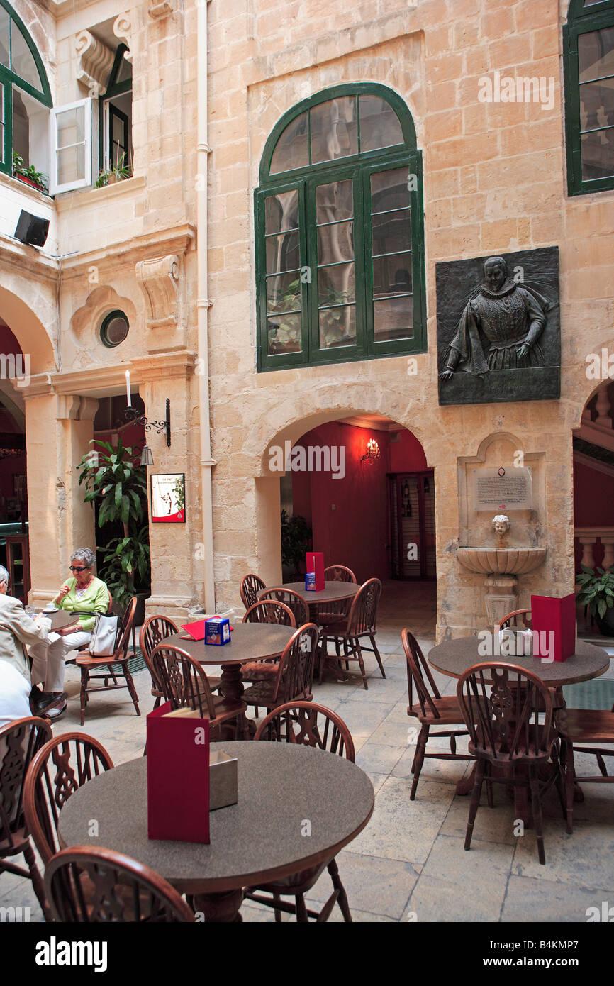 Manoel Theatre Valletta Malta with memorial to Oreste Kirkop - Stock Image