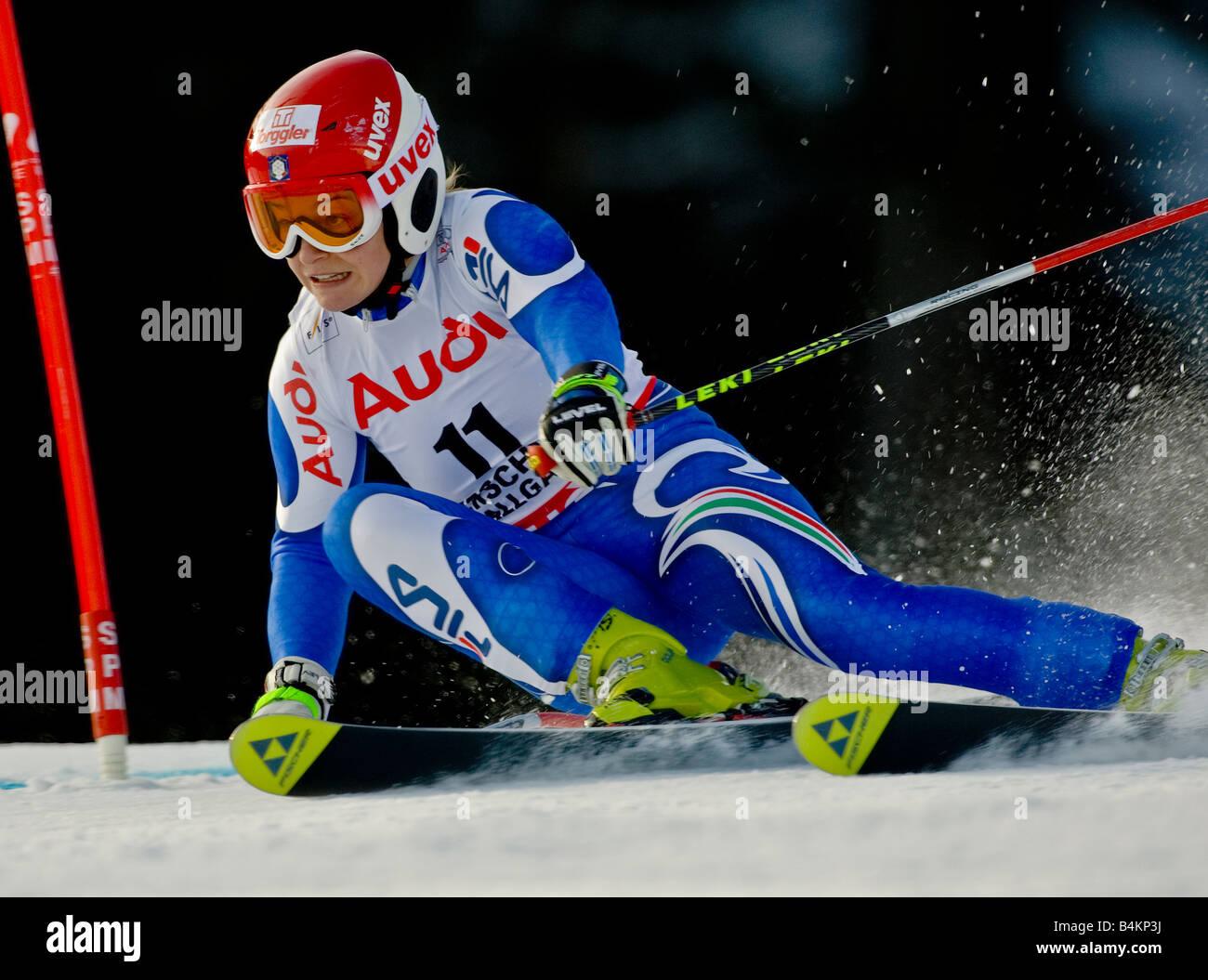 GIUS Nicole Italien - Weltcup Super Giant Ofterschwang 26 01 2008 - Stock Image