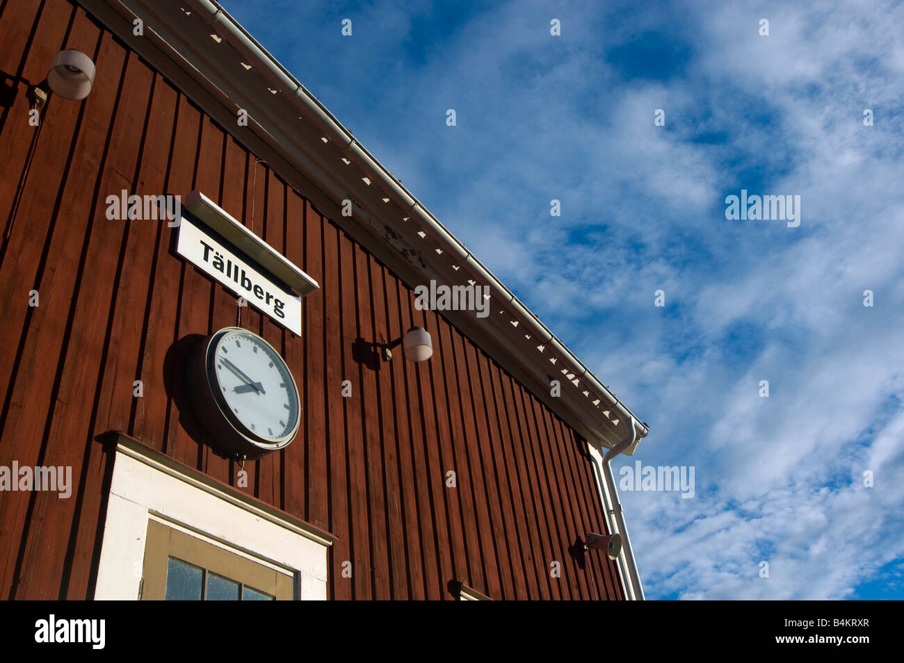Quater to eight at the station of Tällberg, Dalarna, Sweden, Europe - Stock Image
