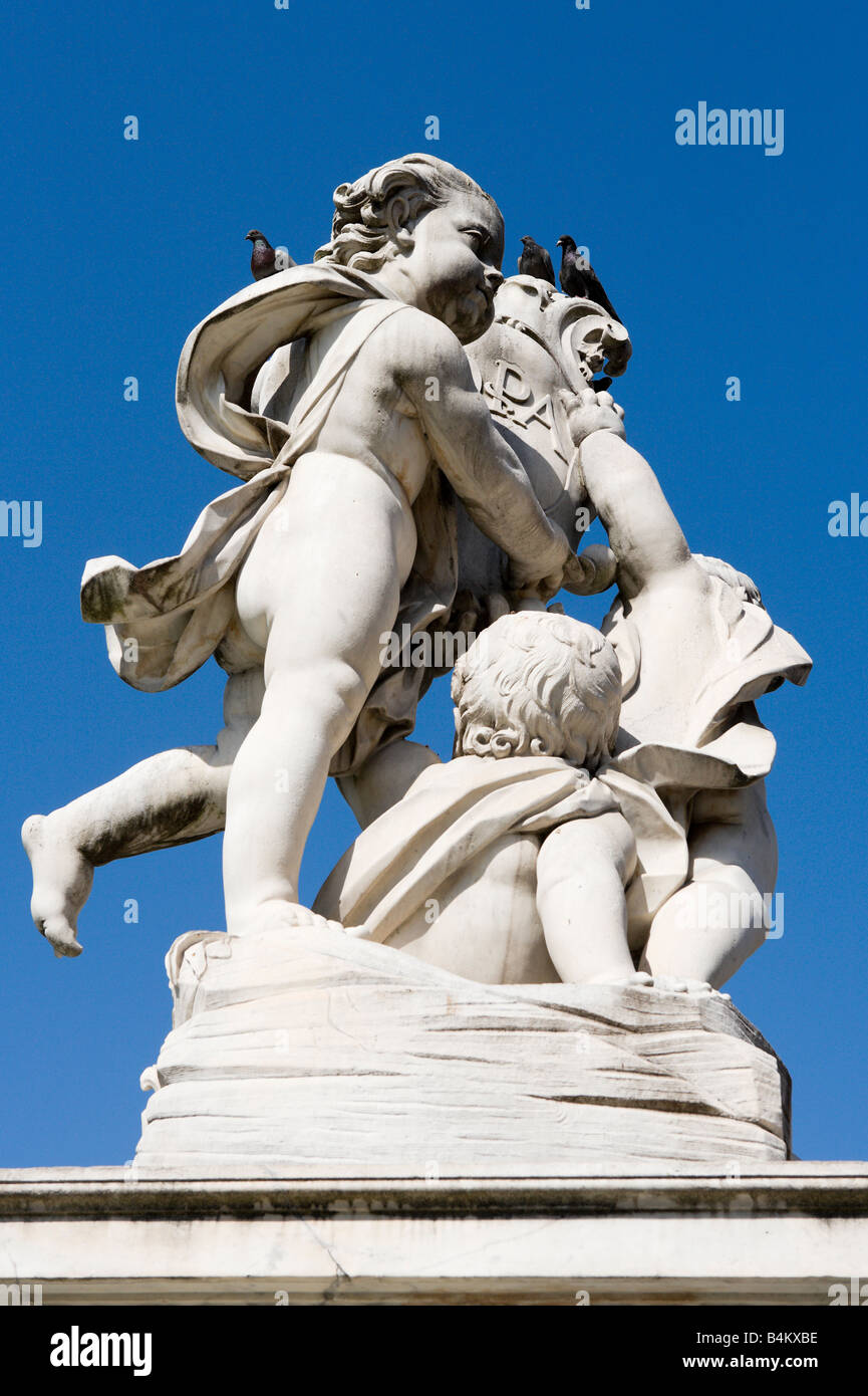 Statue on the Fontana dei Putti, Piazza dei Miracoli, Pisa, Tuscany, Italy Stock Photo