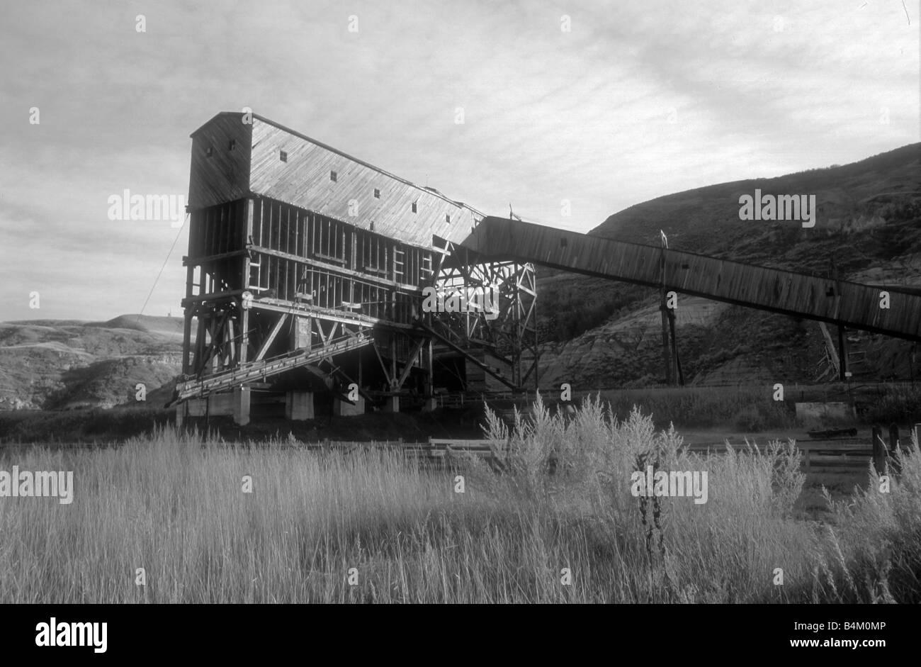 The historic tippler of Atlas Coal Mines, Drumheller AB - Stock Image