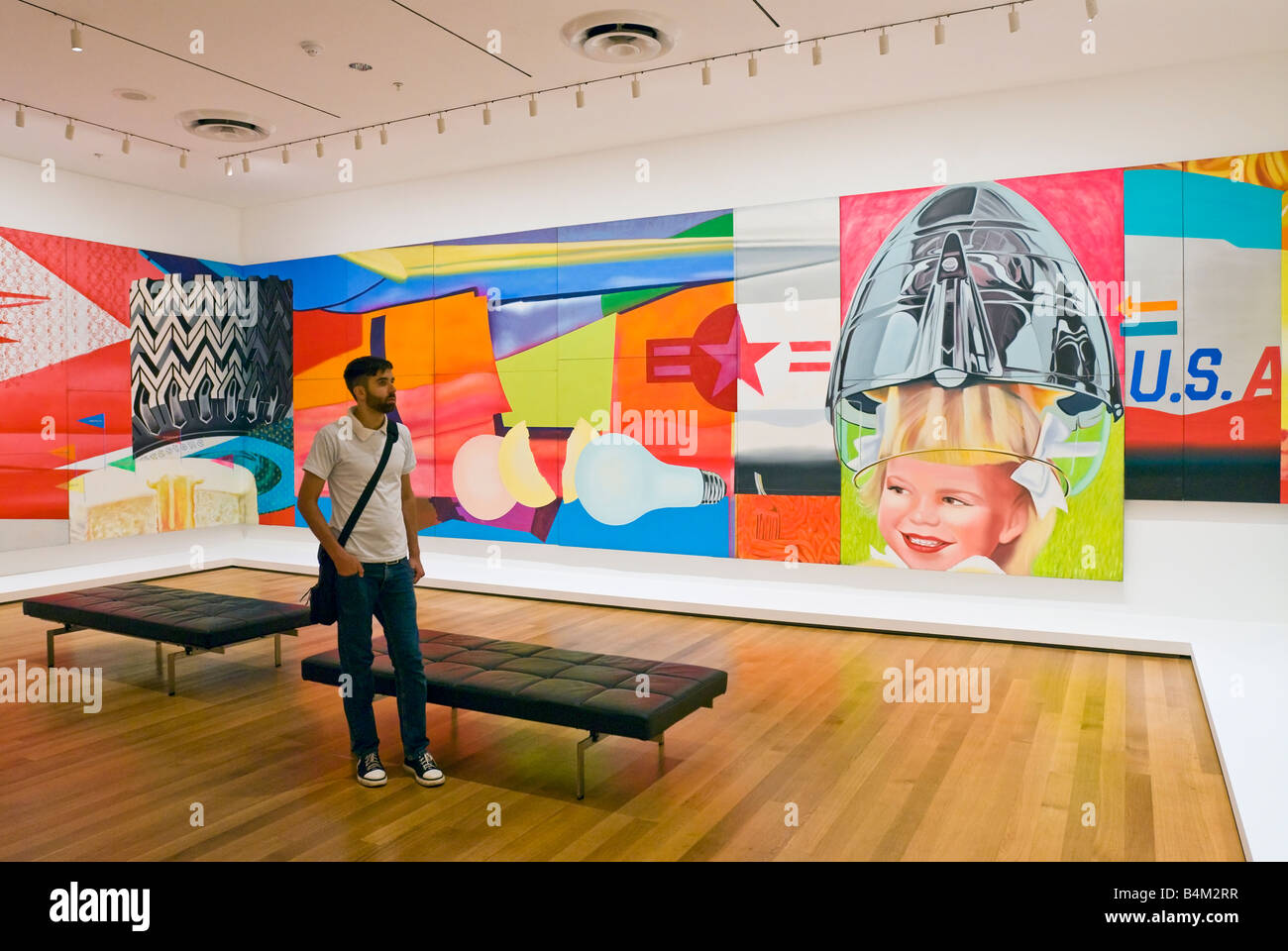 new york city moma the museum of modern art f 111 by artist james stock photo 20110267 alamy. Black Bedroom Furniture Sets. Home Design Ideas