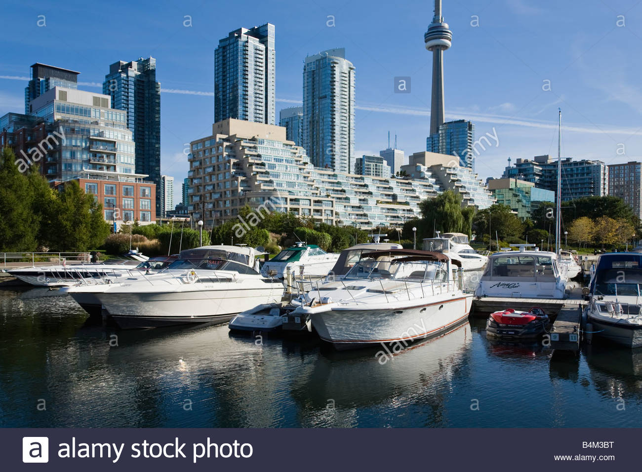 Marina Quay West and condo apartments at Harbourfront in Toronto Ontario Canada - Stock Image
