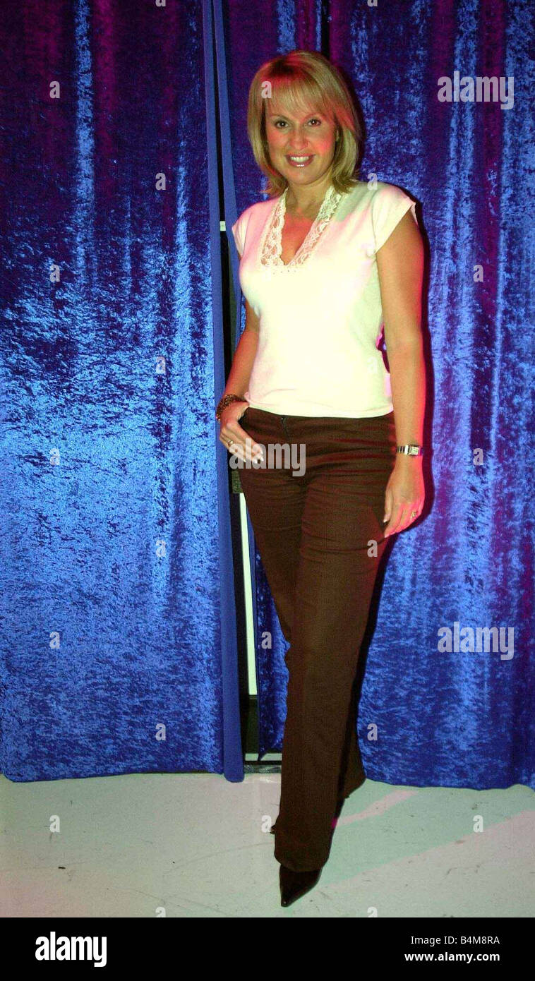 Nikki Chapman New TV presenter for the BBC December 2002 Mirrorpix - Stock Image