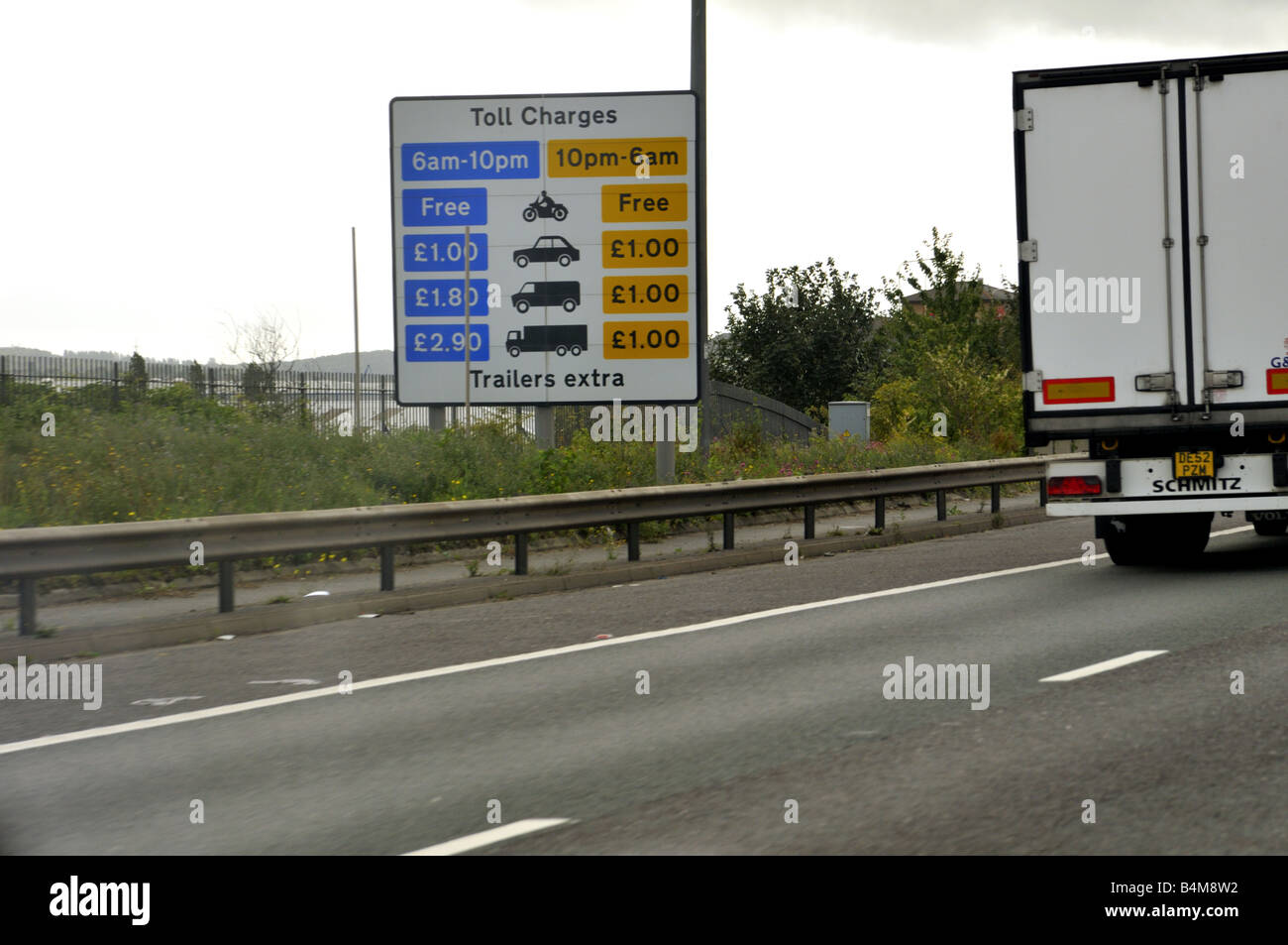 Dartford crossing toll charges UK Stock Photo