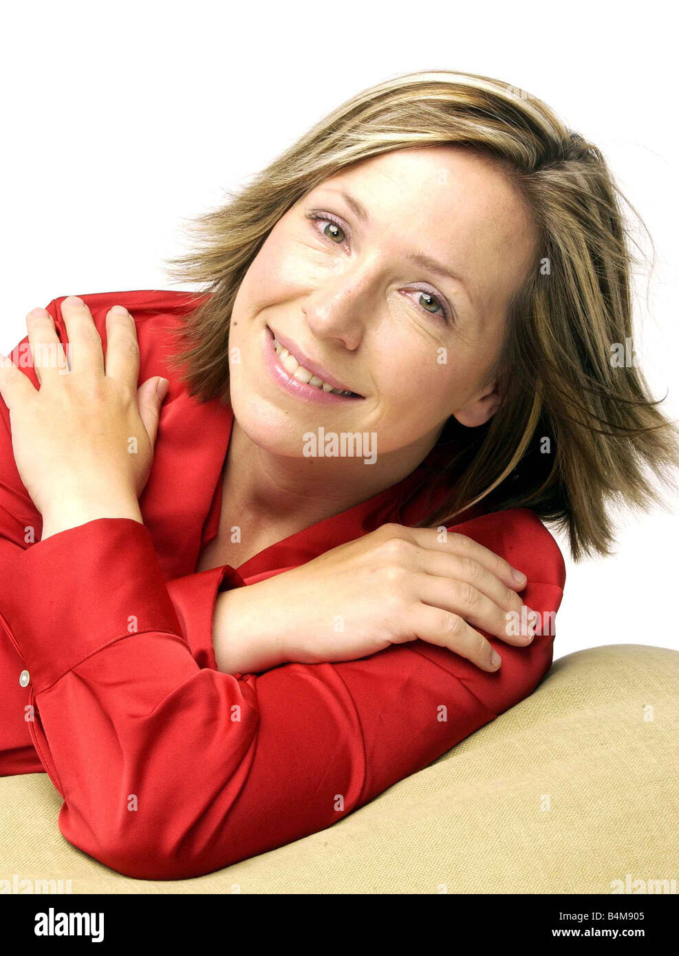 TV presenter Lowri Turner 38 is a former newspaper fashion editor and presenter of Looking Good on BBC2 Television Stock Photo