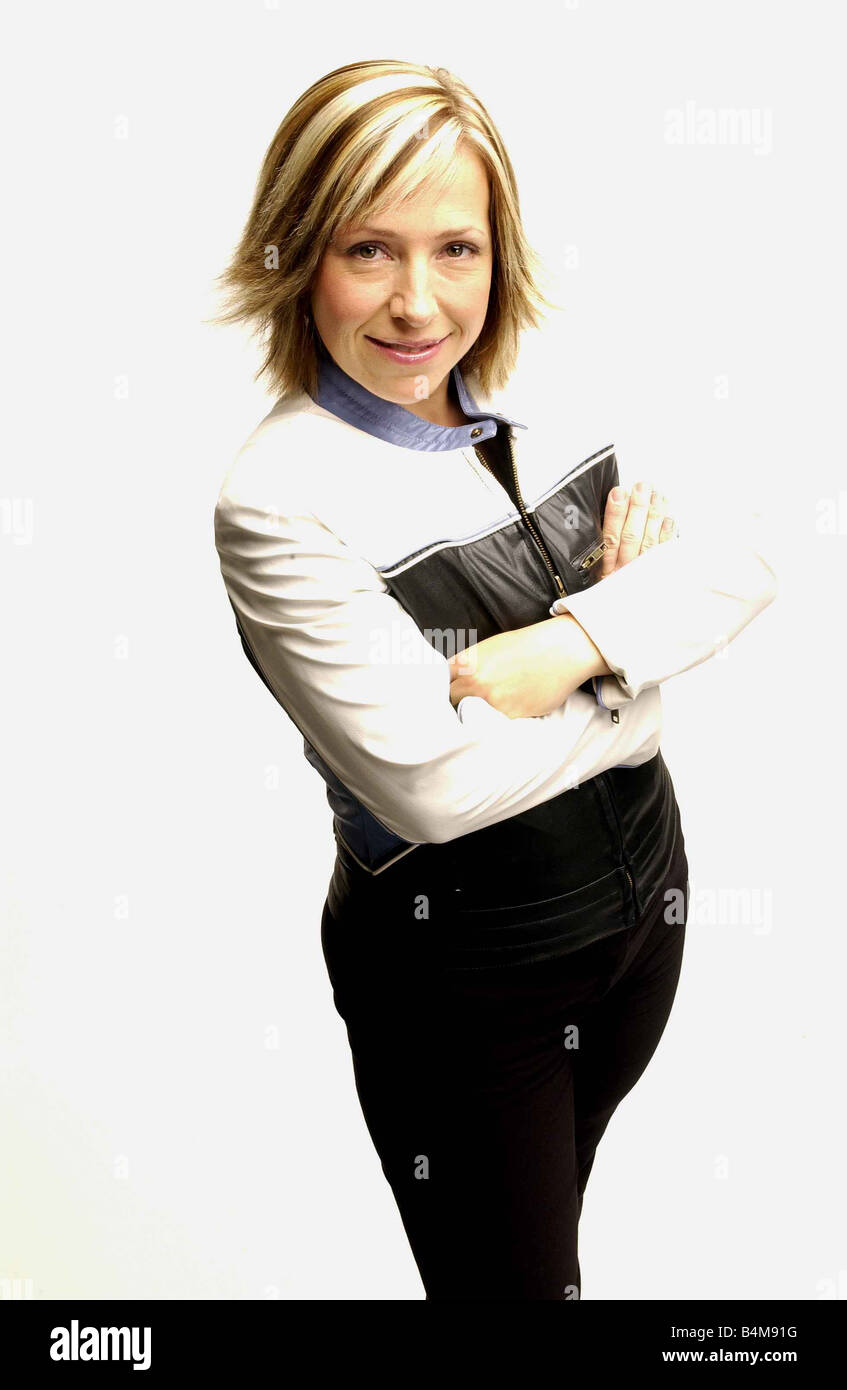 TV presenter Lowri Turner 38 is a former newspaper fashion editor and presenter of Looking Good on BBC2 Television - Stock Image