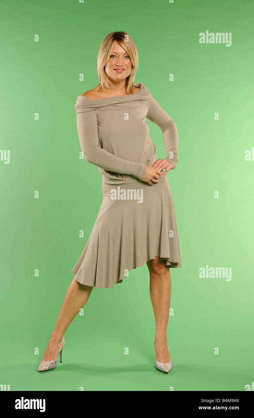 TV presenter Sarah O Flaherty 2004 Pictured scotsport TV presenter Sarah O Flaherty in fashion shoot for the Daily - Stock Image