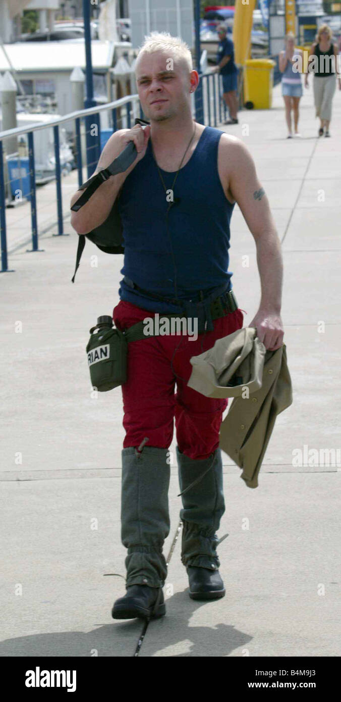 Brian Harvey in Im a celebrity get me out of here TV Programme November 2004 Australia contestant Brian harvey in - Stock Image