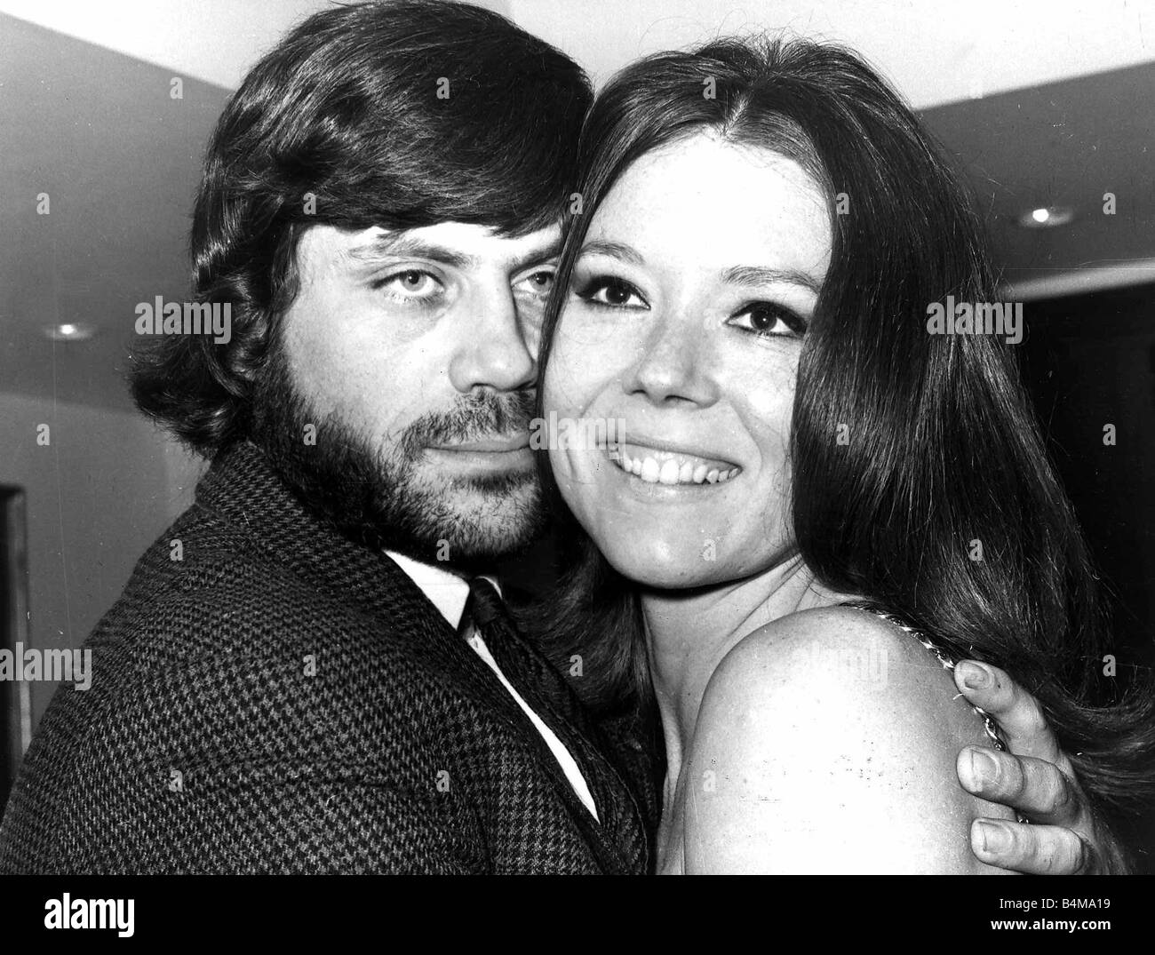 Actress Diana Rigg with Oliver Reed with whom she stars in the film The Assasination Bureau 1967 - Stock Image