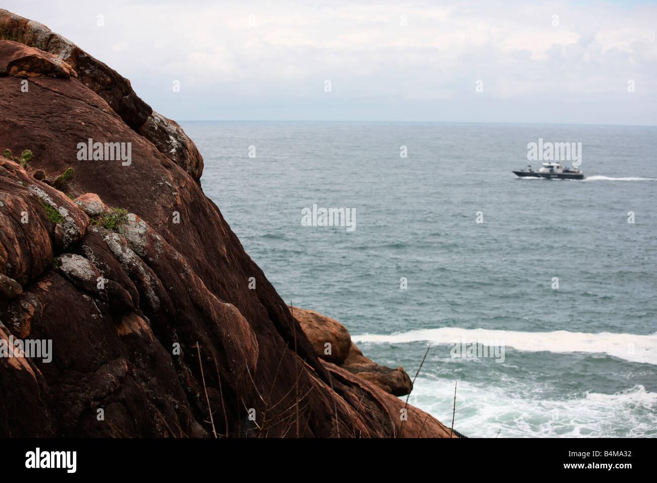 A view of a coastal area in Kerala, India Stock Photo