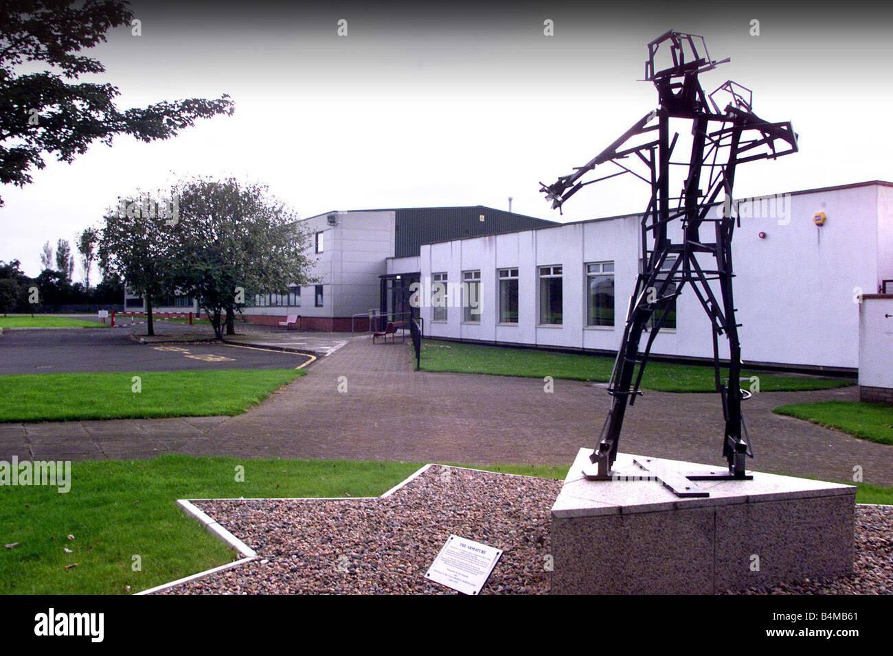 Northern Ireland Fire Brigade Training Centre in Belfast August 2002 - Stock Image