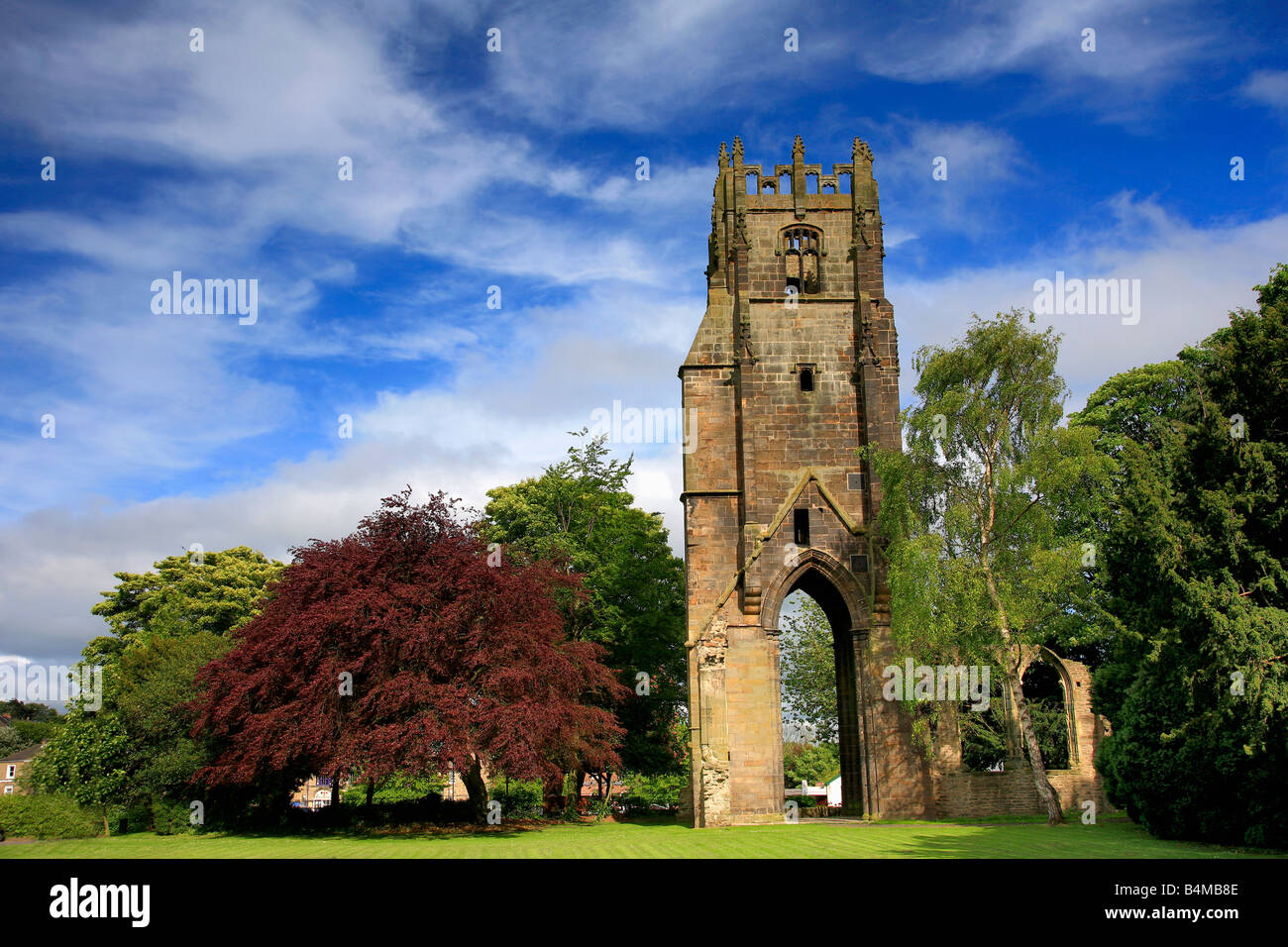 Franciscan Friary Bell Tower Richmond City Yorkshire Dales England Britain UK - Stock Image